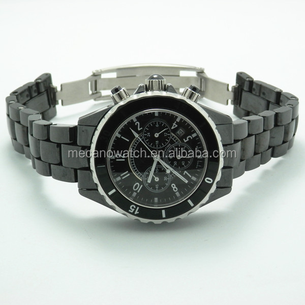 hot sales crystal mens watches with big face 3ATM water resistant men's watch with Japan movement from China factory