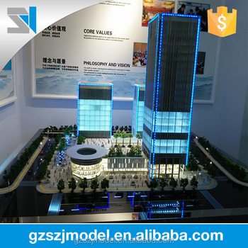China house model making,miniature architectural models with led light ,high-rise building model