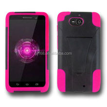 T stand robot hybrid combo kickstand cover case for Motorola Droid ultra xt1080