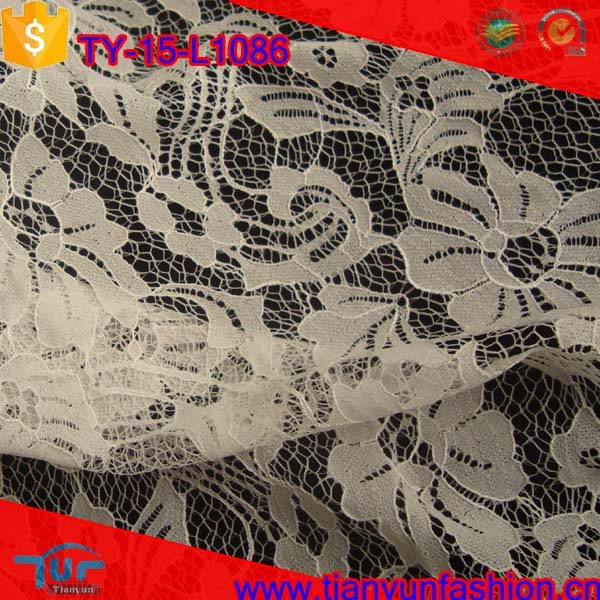 beautiful rose pattern chemical cording stylish wholesale tulle lace fabric
