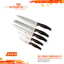 A3428 SUPER QUALITY Stainless Steel Kitchen Knife Set with Plastic Handle