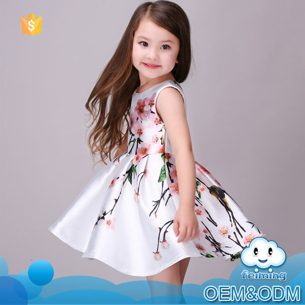 Baby stocks 2016 kids clothes in guangzhou girls party dress cute flower boutique new model party dress baby girl frock desgin