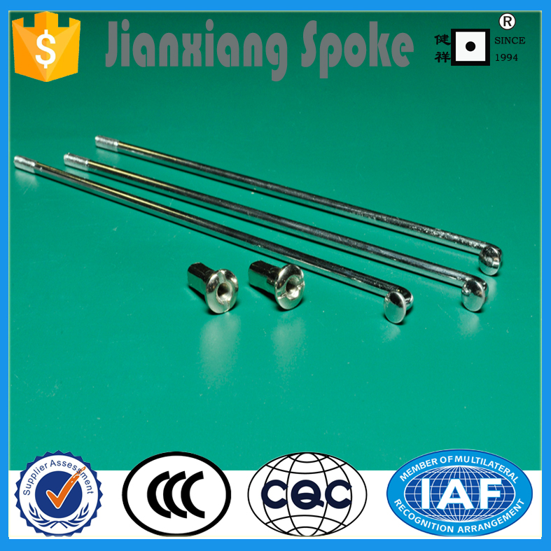 Professional bicycle spoke manufacturer Hot Sale Galvanized stainless steel bike/motorcycle spokes with nipples for wheels
