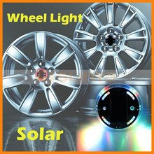 Colorful Car Wheel Rim Light Powered by Solar Enviroment Protect LED Wheel Light