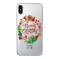 New Year Case Happy Merry Christmas soft tpu Phone Case For Apple iPhone X