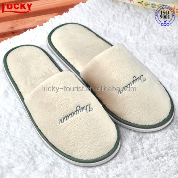 Customized eco-friendly hotel disposable bedroom spa slippers (hot)