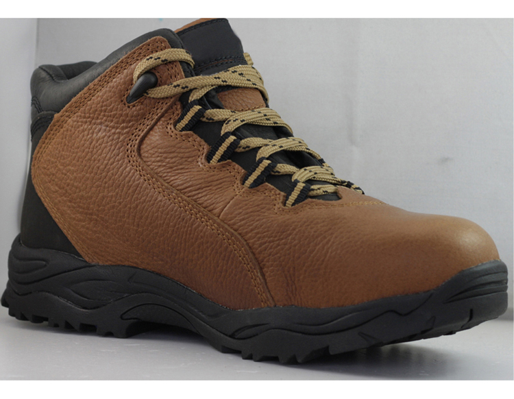 Crazy horse leather steel toe cap safety boots