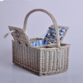 wholesale wicker baskets for 4 persons cheap wicker picnic basket set