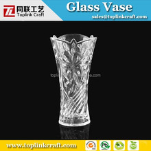 Star shape clear glass Czech Republic Bohemia Crystal Vase