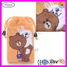 A401 Soft Mobile Phone Pouch Bag Case Plush Cartoon Drawstring Shenzhen Phone Case