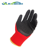 Latex Coated Safety Working Polyester Garden
