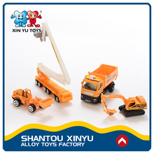 Chenghai small custom diecast concrete pump truck model toys with plastic figure