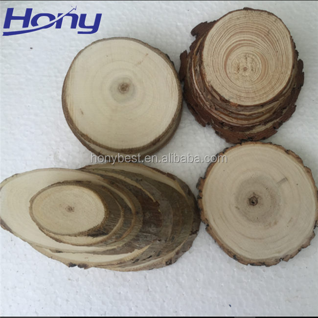 Vintage Wooden Home Decoration Pieces Log Tree Slices Round