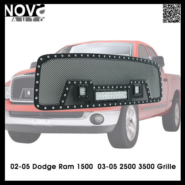 AUTO ACCESSORIES REPLACEMENT PARTS DODGE RAM 1500 LED LIGHT BAR GRILLE