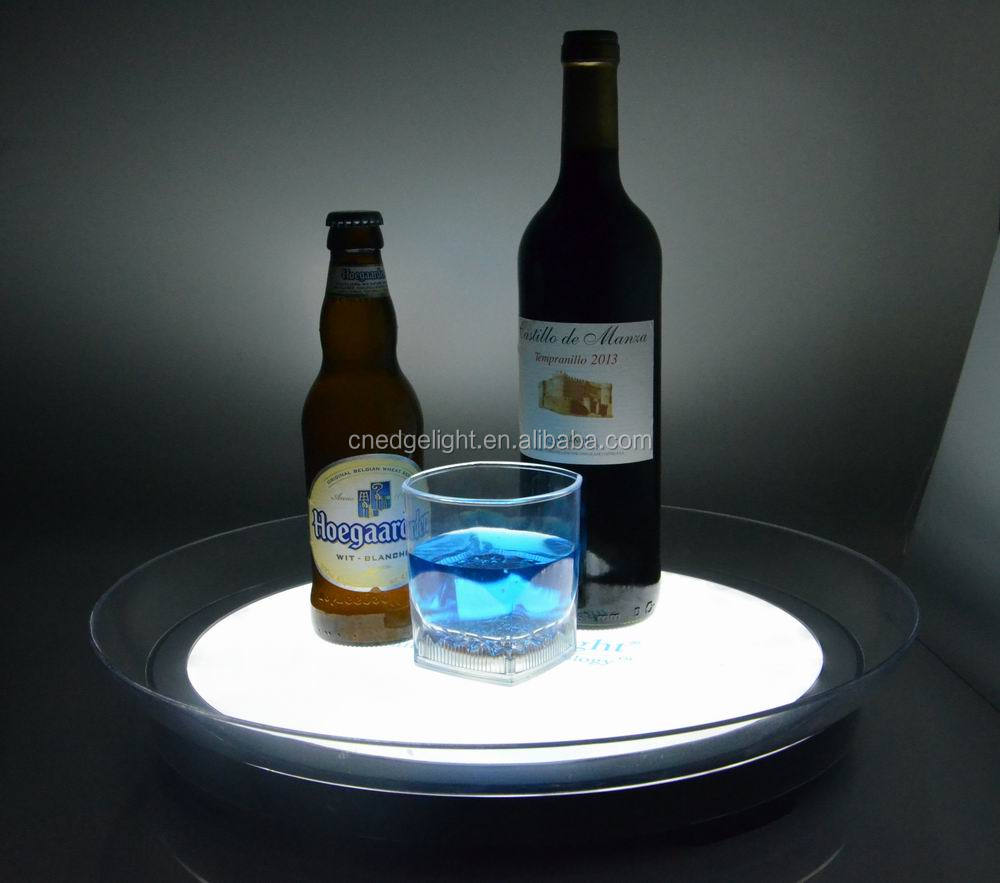Edgelight LED serving tray for restaurants , parties and night bar products , OEM