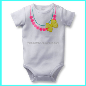 Hot sale fashion stylish infant white adult baby romper shipping from china