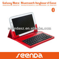 2013 foldable leather bluetooth keyboard case for galaxy note 8.0