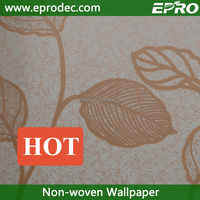 new paper back non-woven material decorative wallpaper for lodging house