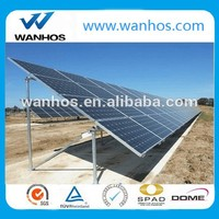 Concrete ground mounting system to support solar panels, Galvanized Steel Structure