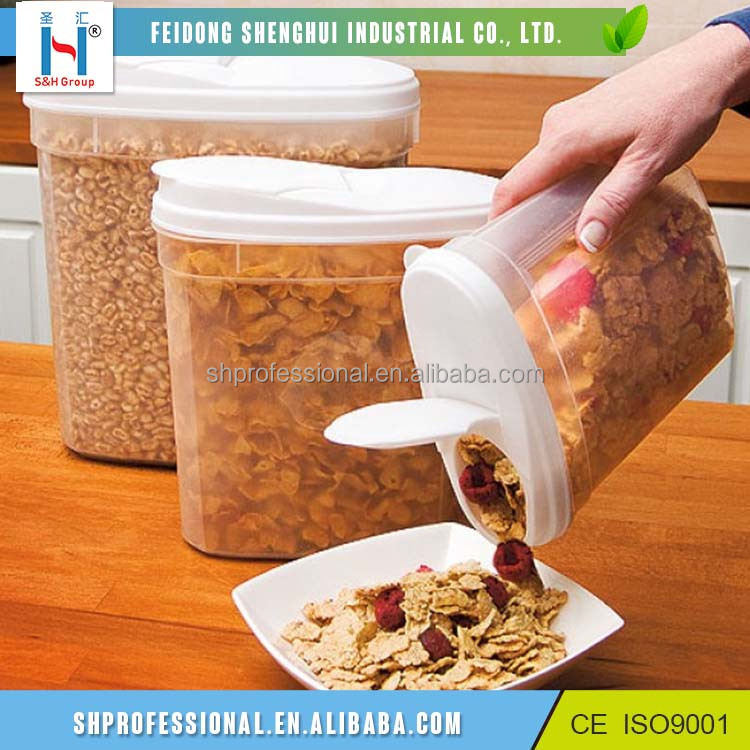 Wholesale Clear Cheap Plastic Cereal Storage Container