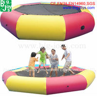 wholesale pink trampoline, cheap inflatable water trampoline