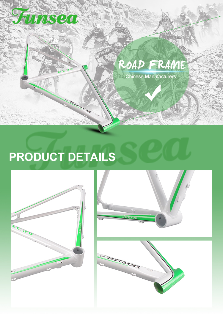High-quality aluminum materials supplier alloy 6061 road bicycle frameset cycling road bike frame cheap wholesale bike frames