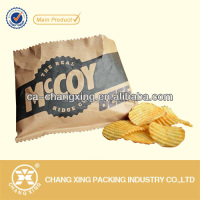 high quality potato chips paper packaging heat seal chips packaging material