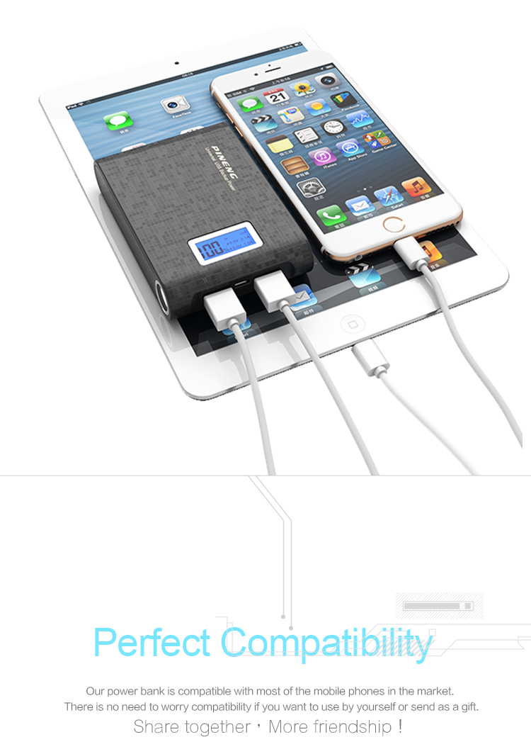 Easy Carry multifunctional digital display 10000mAh mobile charger power bank