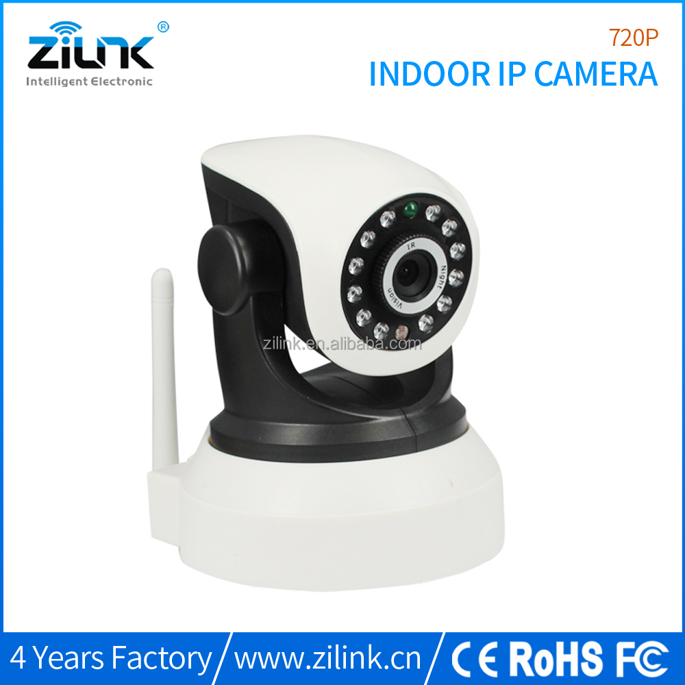 Smartphone remote control 720p indoor wireless pan & tilt ip camera baby monitor