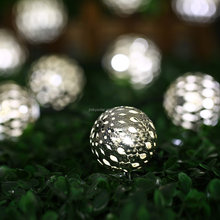 Hot sale Rechargable White 10 LED Solar Waterproof Metal Globe Decorative String Lights for outdoor, garden, patio decoration