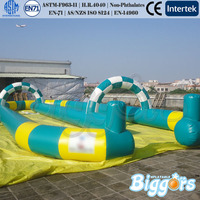 Giant Inflatable Go Karts Race Track Sports Games For Sale