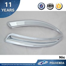 ABS chrome Rear fog light trim for Volkswagen Tiguan 2013 Fog lamp cover Auto Accessories From Pouvenda