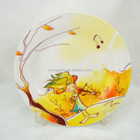 Ceramic Food Safe Baby Favorite Plate With Cartoon Design/raw material for ceramic dishes
