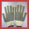 Cutting proof Aramid Fiber glove with pvc dots in the palm