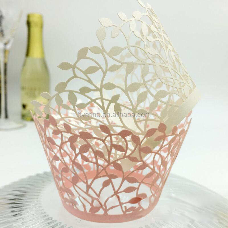 High quality wedding box laser cut paper cup cake box