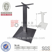 2014 popular of high quality adjustable cast iron table bases TB-03