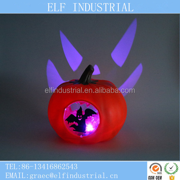China online shopping led light up socks blowing molding battery powered led lights halloween pumpkin designs