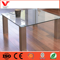 China manufacturer of Square Tops Glass Coffee Table