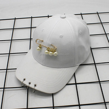Wholesale casual summer baseball cap south Korean women's pearly hats custom baseball hat