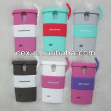 New Arrival Lovely Special Coffee Cup Soft Silicone Material Stand Case For Samsung Galaxy S4 i9500