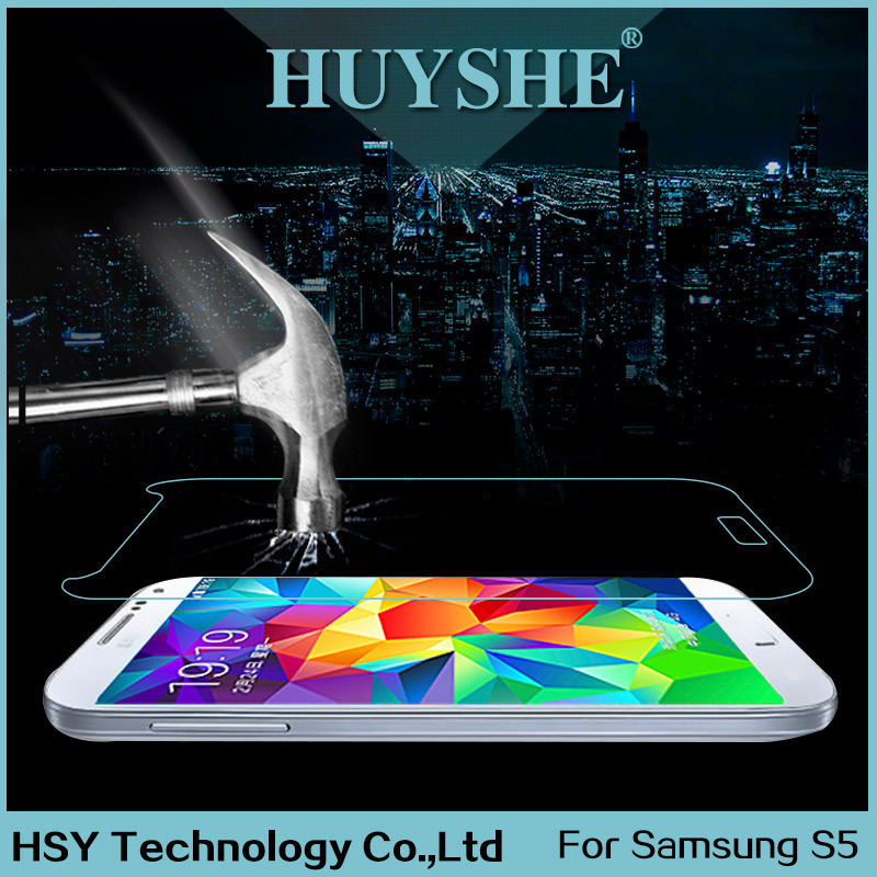 HUYSHE galaxy s5 tempered glass screen protector with 2.5D arc edge design