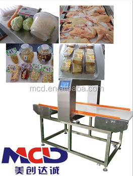 Auto-conveying Industry food metal detector MCD-F500QF Metal Detector For Food Processing Industry