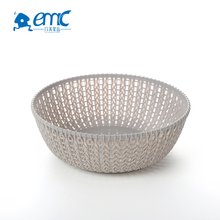 Most popular colorful small round mesh plastic fruit and vegetable storage basket