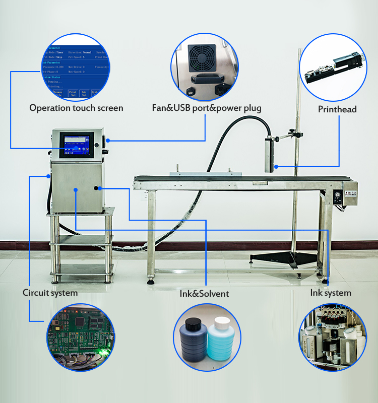 High speed Expiry date printing machine for PVC pipe ink jet printer