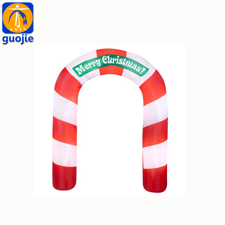 Various model giant plastic inflatable arch for merry Christmas sale