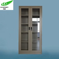 barcode metal filing magazine cabinet/double glass door steel cabinet in dubai