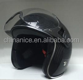 Open face Carbon fiber helmet with Visor