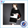 Yihao 2015 New Lady Vintage Plus Size Long Sleeve Striped Simple Dress