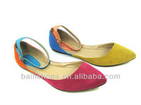 2013 Latest Design Contrast Color Flat Girl Shoes/Slip-on Casual Shoes