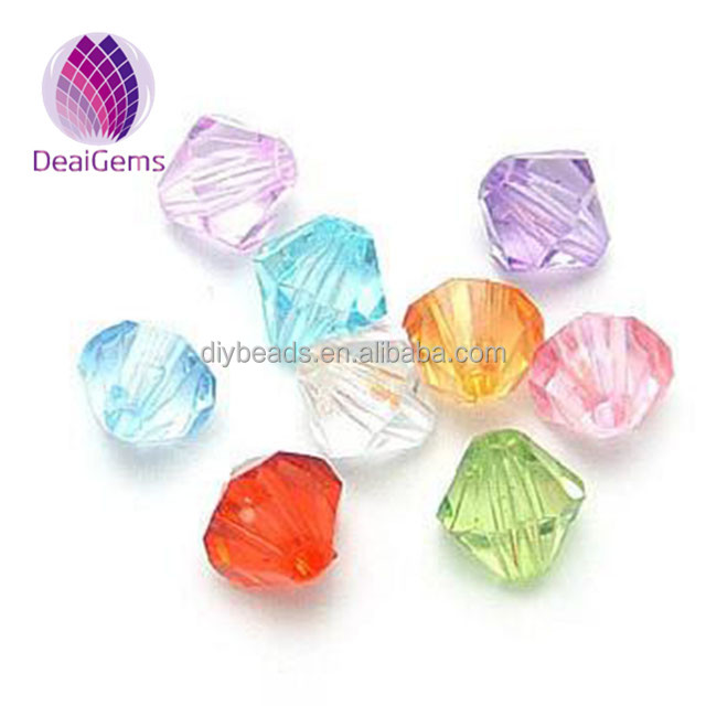 diy jewelry making 6mm 8mm 10mm 12mm clear crystal bicone acrylic beads